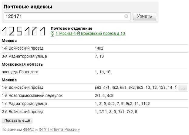 Список и адреса почтовых отделений г Москва  adres495ru